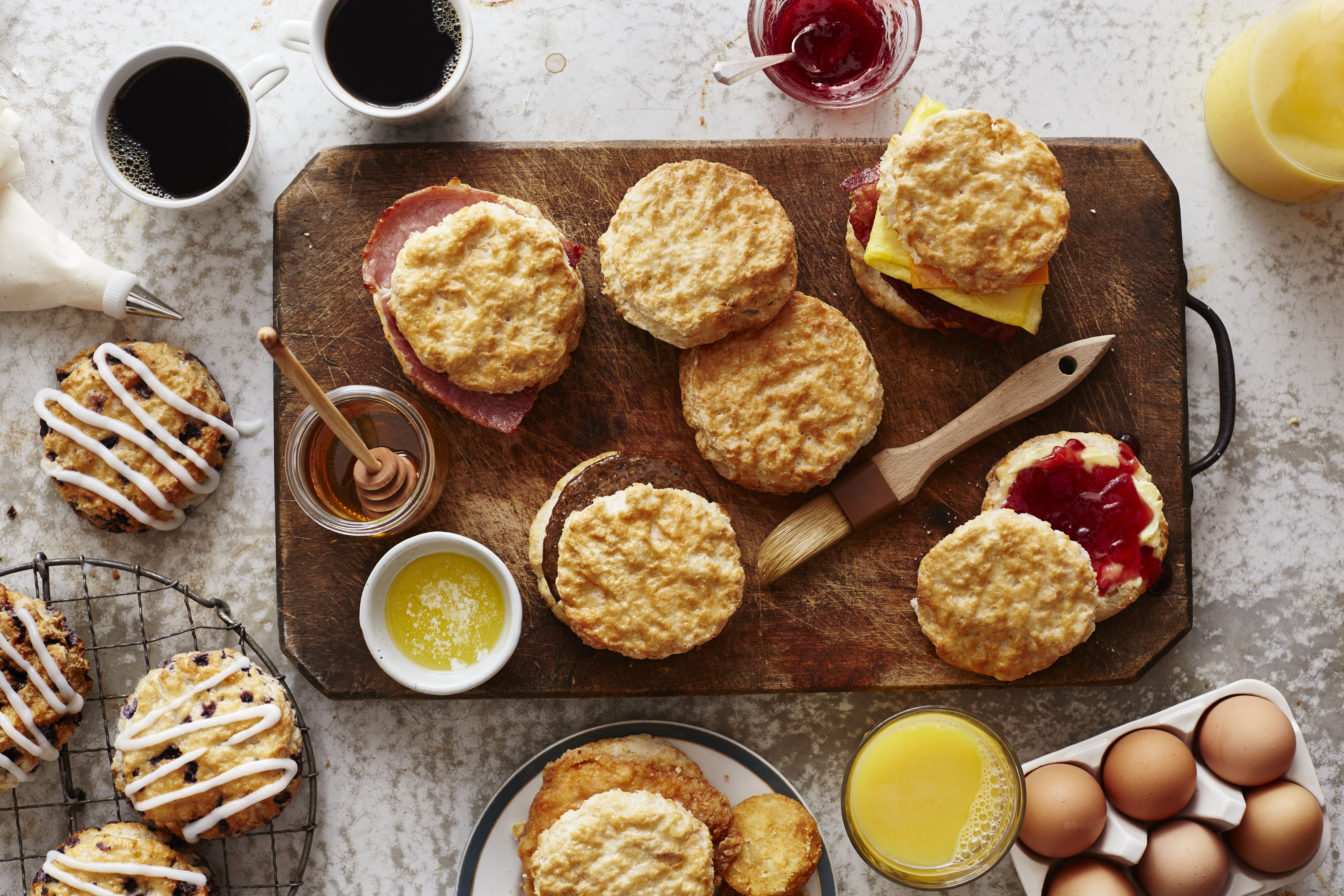 The Bojangles' made-from-scratch buttermilk biscuit, made hot and fresh every 20 minutes, is a true icon of the Southeast. (Photo: Bojangles')