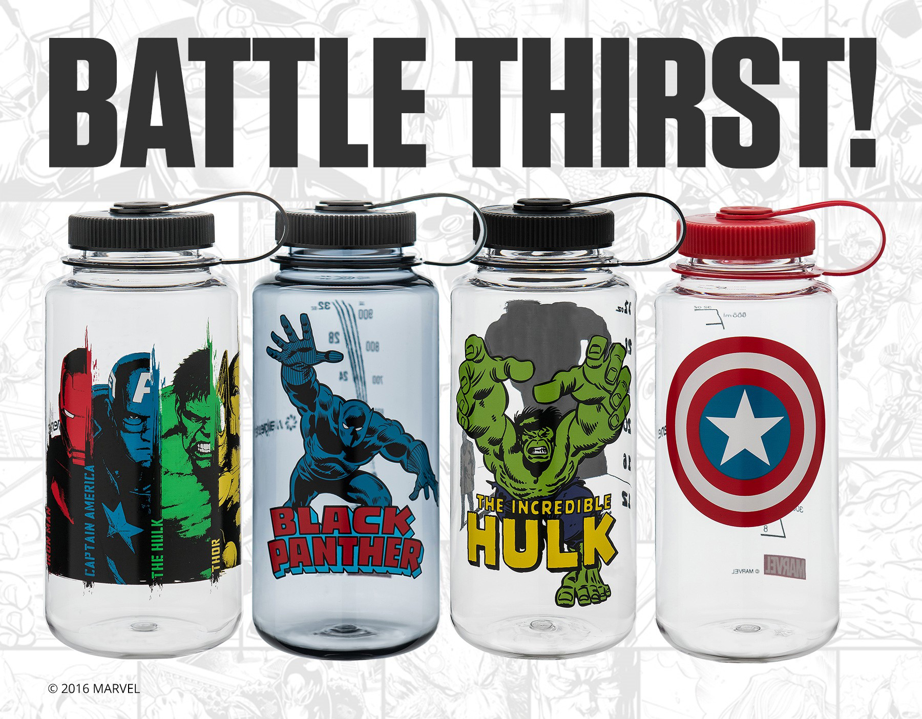 b4f4f9f8ae Super Heroes Hydrate: Nalgene Outdoor Announces Release of Water Bottles  Featuring Marvel Super Heroes   Business Wire