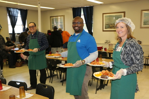 Axalta employees volunteered to serve lunch at the Ministry of Caring to recognize National Hunger a ...