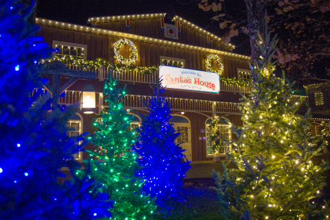 The new Holiday in the Park celebration at Six Flags St. Louis features a million dazzling lights, o ...