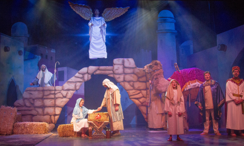 In addition to sparkling lights and breathtaking decorations, guest will experience holiday-themed productions during the new Holiday in the Park at Six Flags St. Louis. One of the parks feature musical productions, The Majesty of Christmas, tells the classic nativity story complete with live animals and a flying angel. Other shows include The Tinseltones performing songs of the season and The Magic of Christmas, a fully immersive lights show set to music. (Photo: Business Wire)
