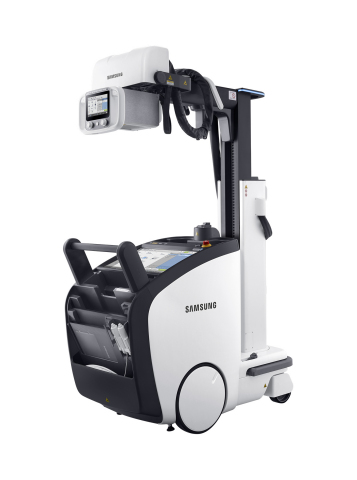 Samsung Electronics showcases the GM85, a premium mobile digital radiography (DR) system at the Radiological Society of North America's 102nd Scientific Assembly and Annual Meeting in Chicago Nov. 27-Dec 2, 2016. The GM85 received FDA 510(k) clearance Nov. 17 for use in the United States. (Photo: Business Wire)