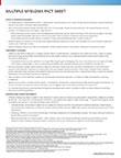 Multiple Myeloma Fact Sheet