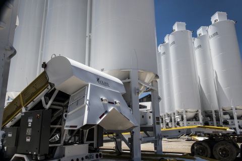 Solaris Oilfield Infrastructure is tripling production capacity at the company's plant in Early, Texas, where Solaris manufactures its Mobile Sand Silo System. (Photo: Business Wire)