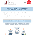 New Research By The Hartford And The MIT AgeLab Reveals Top 10 Smart Home Technologies For Mature Homeowners