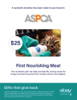 Shoppers can purchase symbolic gifts ranging from $25 to $100 from six leading charitable organizations - including the ASPCA - making great last-minute gift options for friends and family. (Graphic: Business Wire)