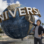 Shigeru Miyamoto, creator of Mario, stands outside Universal Orlando Resort. Nintendo-themed areas are coming to three locations around the world. © 2016 Universal Studios. All Rights Reserved.