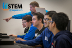 High school students in software coding exercise at AspenTech STEM Day. Instructor Clay Didier and students (left to right) Shane Norton, Ronald DeSilva, Brad McMullen, Azim Kamthewala, Amaan Gadatia. (Photo: Business Wire)