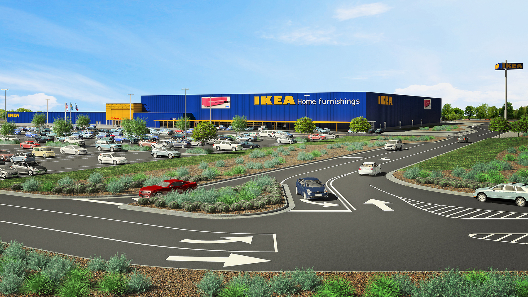 IKEA continues U.S. expansion by submitting plans to open a San Antonio-area store Summer 2019 in Live Oak, Texas (Photo: Business Wire)