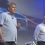 11 NIWeek 2016 Day 1 audi Michael Konrad and Dominik Eyerly discuss how Audi uses NI hardware and software for testing and prototyping advanced driverless cars.