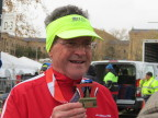 Don Wright with Medal from his 100th Marathon, Philadelphia, Nov. 20th (Photo: Business Wire)