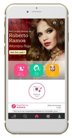 YouCam Partners with Latin Celebrity Makeup Artist Roberto Ramos for Launch of Custom Makeup Filters to Reach the Latina Consumer (Photo: Business Wire)