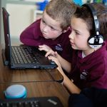 Nearly 6,000 students at Stratford School's 22 different campuses in northern and southern California will participate in a variety of creative learning activities during the 2016 Code.org Hour of Code. Stratford's 2016 effort features a first-ever virtual storytelling/coding project in which 8th grade computer science students from northern California help preschool students from southern California create and animate an original story that they can watch on their iPads and laptops.