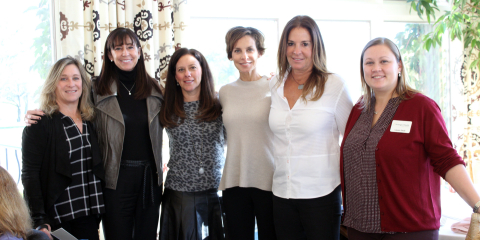 Show of support for our troops: (l-r) Eydie Sternberg, Joyce Dlugie, Beth Conen, Liz Copeland, Sheri ...