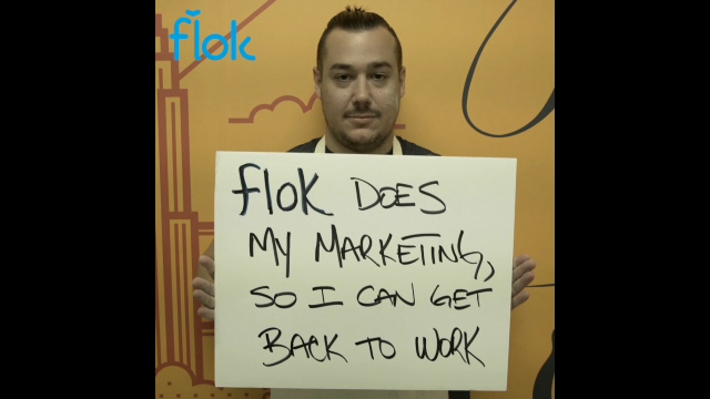 New York City marketing and loyalty platform, flok, recently used Magisto for Marketers as part of their customer acquisition efforts on Facebook.