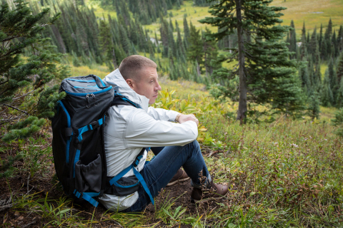 Macklemore wearing Columbia's OutDry Extreme ECO Jacket in the Pacific Northwest. (Photo: Business Wire)