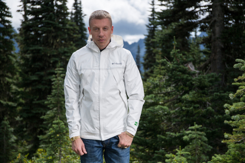 Macklemore partners with Columbia on the launch of the OutDry Extreme ECO Jacket to raise awareness about environmentally responsible rainwear. (Photo: Business Wire)