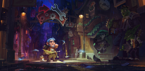 Opportunity awaits you in Mean Streets of Gadgetzan™, the fourth expansion for Hearthstone®, Blizzard Entertainment's smash- (and grab) hit digital card game. (Photo: Business Wire)