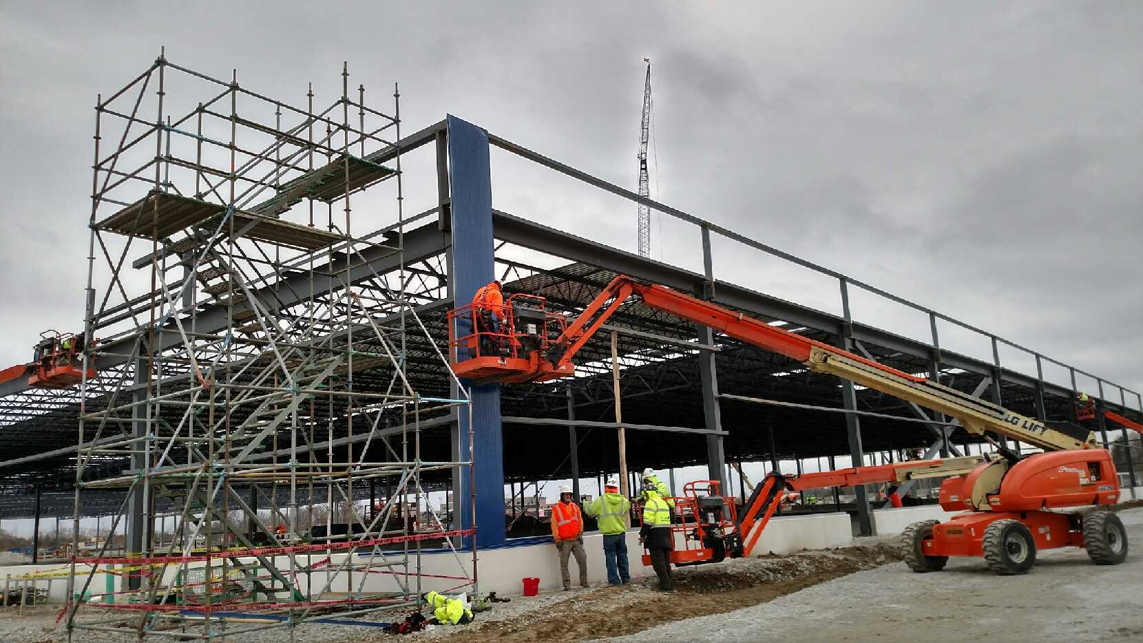 Iconic blue exterior begins to shape future IKEA Fishers as construction progresses on Indiana store opening Fall 2017 (Photo: Business Wire)