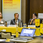 """DHL Global Forwarding's """"The Evolving World of Customs"""" seminar in Chicago, Illinois, from left to right: Karen Damon, Sr. Director, Compliance Import & Regulatory Affairs at DHL Global Forwarding U.S.; Jack Bebinger, Assistant/Center Director at the U.S. Customs Border Protection CEE; and Lisa Gelsomino, President/CEO of Avalon Risk Management (Photo: Business Wire)"""