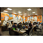 Open modular workspaces allow for collaboration (Photo: Business Wire)