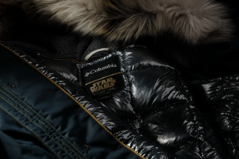 The Captain Cassian Andor Rebel Jacket features Columbia's Omni-Heat Reflective technology that reflects the wearer's body heat in cold conditions. (Photo: Business Wire)
