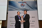 Mr. Thomas Poh, Panduit Director of Marketing for the Asia Pacific region, accepting the Reader's Choice Award. (Photo: Business Wire)