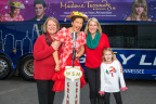 Minnie Pearl's wax figure is joined by her great niece Barbara Sanders, great-great niece Sarah Steinlein and great great great niece Sarah Grace Steinlein. (Photo: Business Wire)