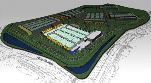 Rendering of RagingWire's Ashburn VA3 Data Center and Ashburn Data Center Campus. (Photo: Business W ...