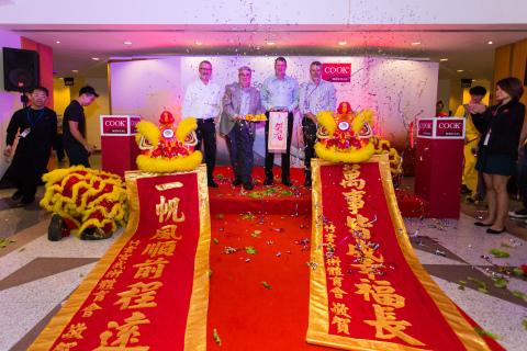 クック メディカルがシンガポールの新しい物流センターをオープン