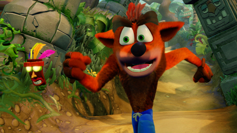 Crash Bandicoot® N. Sane Trilogy, available in 2017, features all-new lighting, animations, environments and recreated cinematics. Fans new and old alike will enjoy seeing the beloved '90s video game icon like never before in this fully-remastered game collection. (Photo: Business Wire)