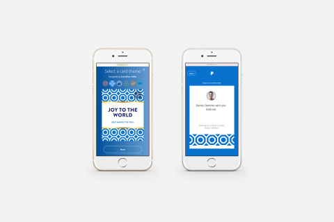 Gift givers can log into their account on PayPal.com, simply select Send Money to make it a gift, pick their favorite card design, designate the amount of the gift, and send. (Photo: Business Wire)