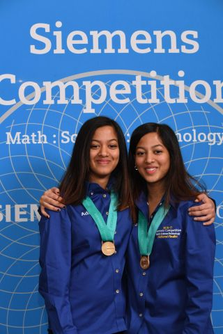 Twins Adhya and Shriya Beesam of Plano, TX, team winners of the 2016 Siemens Competition in Math, Science and Technology, will share a $100,000 scholarship. (Photo: Business Wire)