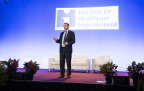 IHI President & CEO Derek Feeley at IHI's National Forum on Quality Improvement in Health Care (Dec. 4-7, 2016) in Orlando tells the audience of 5,000 why it's crucial to broaden the definition of patient safety to include the millions harmed by inequities in care. (Photo: Business Wire)