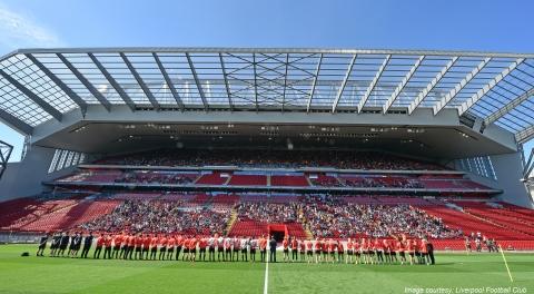 Main Stand at Liverpool Football Club Stadium. (Image courtesy: Liverpool Football Club)