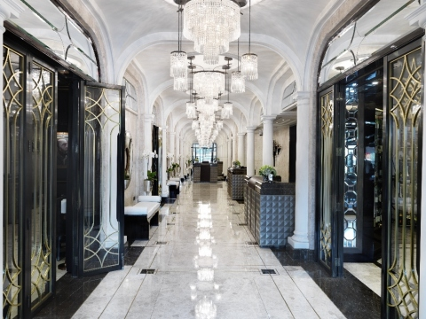 The Wellesley, a Luxury Collection Hotel, Knightsbridge, London - The hotel's interior Art Deco styl ...