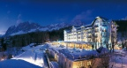 Cristallo, a Luxury Collection Resort & Spa, Cortina - The spectacular Dolomites mountain and the hotel's exterior (Photo: Business Wire)