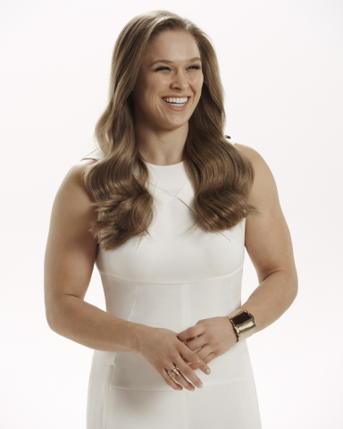 Pantene's new Brand Ambassador Ronda Rousey behind-the-scenes at her Pantene advertising shoot. (Photo: Business Wire)