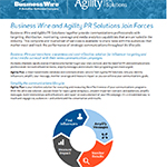 Business Wire and Agility PR Solutions PDF