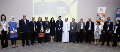 Organizers and keynote speakers at the ICEDSA 2016 Conference at AURAK (Photo: ME NewsWire)