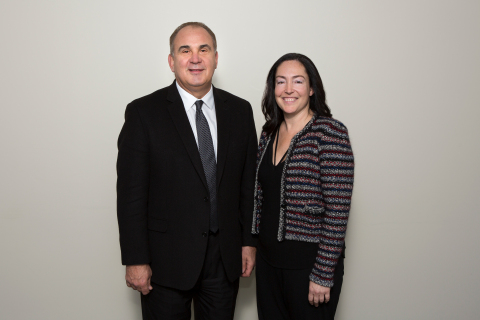Joe Pisarcik, President & CEO of the NFL Alumni Association and Krista K. Stein, Channel Director at BizFilings (Photo: Wolters Kluwer)