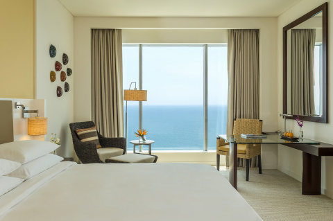 Hyatt Regency Cartagena offers 261 guestrooms, all of which feature views of the Caribbean Sea or the bustling Cartagena Port. (Photo: Business Wire)