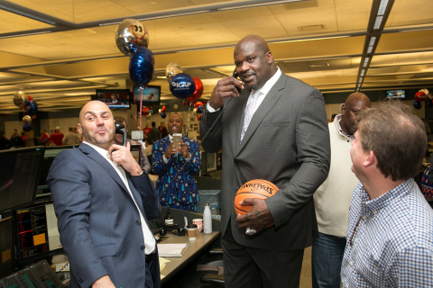 Shaquille O'Neal participated in ICAP's 24th annual global Charity Day at the firm's Jersey City office. Charity Day raised the equivalent of approximately 3% of ICAP's full year pre-tax profit in 2015/2016.