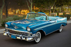 1956 Bel Air convertible (Lot #1056) featuring a 205 horsepower Power Pack engine and rare Harbor Blue / Nassau Blue color combination. (Photo: Business Wire)