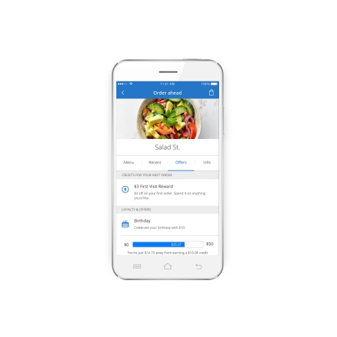 Order ahead and pay for food with Chase Pay (Photo: Chase)