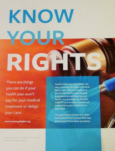 Aimed Alliance launches www.CoverageRights.org website and brochure to help us understand our health insurance rights (Photo: Business Wire)