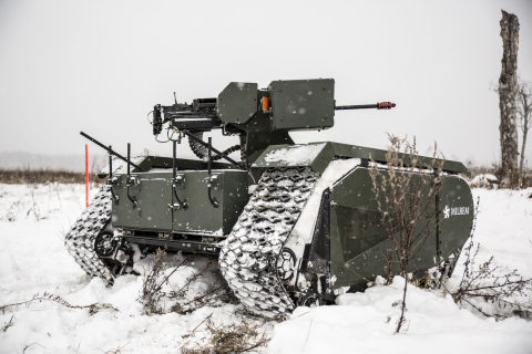 Milrem has successfully tested the THeMIS as an unmanned weapons platform together with the Estonian Defence Forces and Singapore Technologies Kinetics, one of Asia's leading land systems companies and producer of the remote weapon station. (Photo: Business Wire)