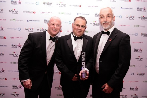 NICE customer Virgin Money won Best Use of Voice of the Customer at the prestigious 2016 Engage Awards in London (photo credit: Engage Business Media Ltd)