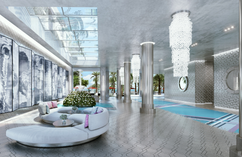 The South Tower Lobby Rendering (Credit: The Trump Group)