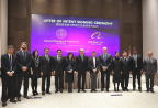 Thailand's senior government officials, led by Deputy Prime Minister Somkid Jatusripitak, and Alibaba Group's management team, led by Executive Chairman Jack Ma, attending the signing ceremony of an agreement to help Thai SMEs succeed in e-commerce (Photo: Business Wire)